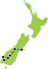 10 Day South Island Ultimate Hikes Map
