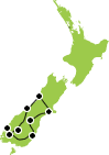 10 Days Southern Spectacular Christchurch to Christchurch itinerary Map