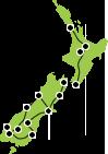 Map - 14 Days New Zealand Panorama Itinerary