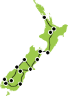 15 Day Rail Spectacular Tour Auckland to Christchurch Map
