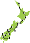 New Zealand tour small map