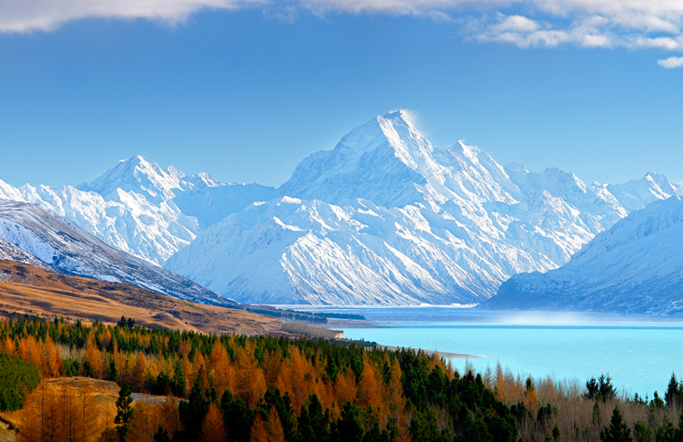 A beautiful view of Mount Cook.