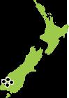Cruising map of New Zealands Fiordland