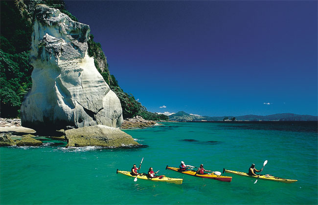 Nice picture of the coastline of Coromandel Peninsula.