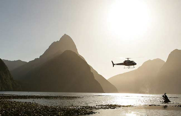 Scenic Helicopter ride in Milford Sound