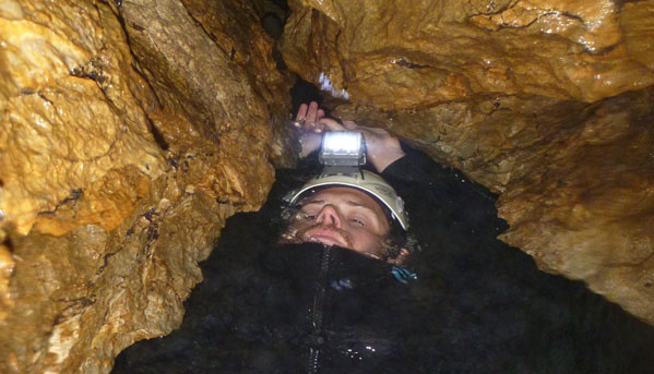 Lost World Epic in Waitomo is full of tight spaces and wet area's