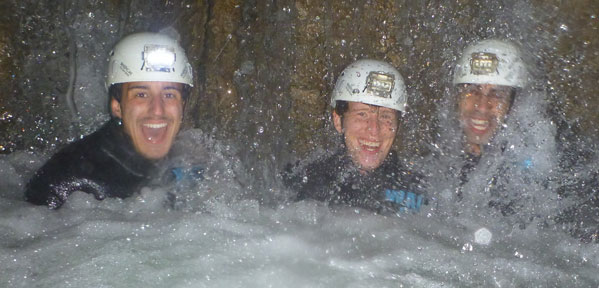 The First Light Travel Interns Caving in Waitomo