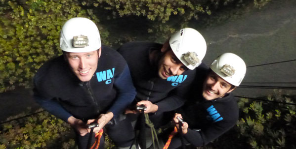 First Light Travels Interns in Waitomo for the Lost World Caving Adventure