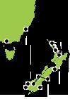 New Zealand to Australia Cruise Map