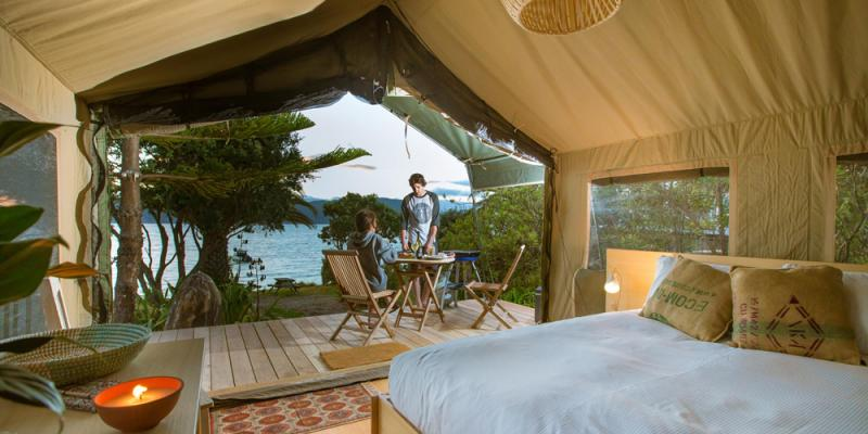 Glamping in New Zealands North Island