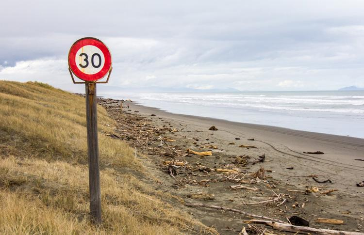 Beach driving is a common practice in New Zealand