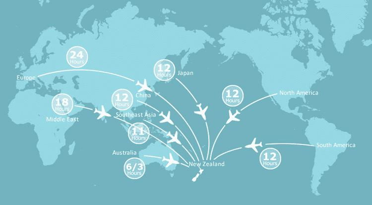 Flight Times and Routes to New Zealand
