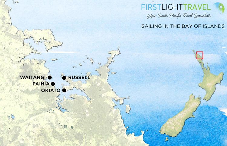 Map Sailing in the Bay of Islands