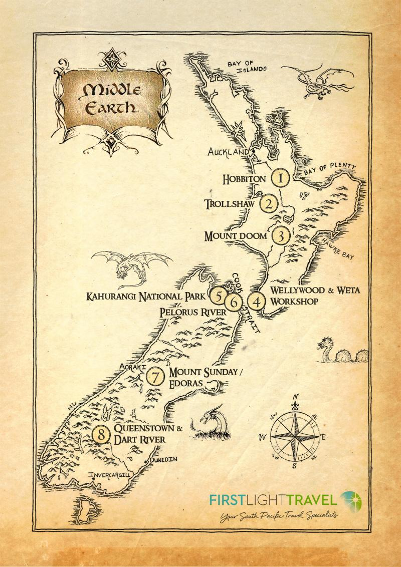 LoTR Hobbit Filming Locations New Zealand