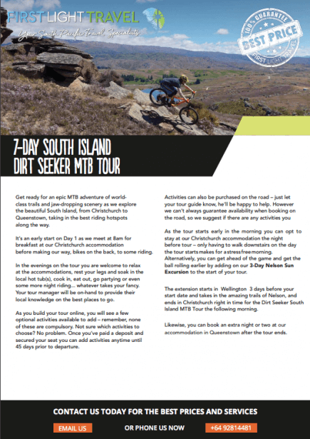 Cover of South Island Dirt Seeker MTB Tour Cover