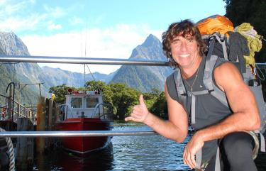 Man at Milford Sound