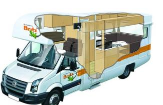 Britz Explorer 4 Berth Cut Away