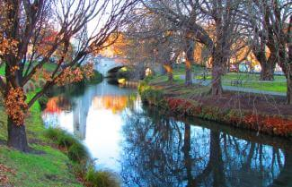 Christchurch River in autumn
