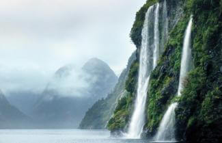 Waterfalls Milford Sound