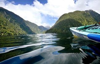 Remore kayaker in Fiordland
