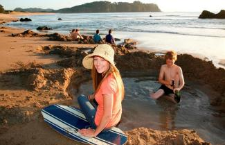 New Zealand Family Adventure Tour Hot Water Beach