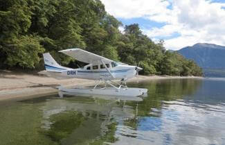 Float plane into Fiordland