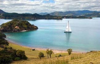 Sailing in the Bay of Islands.