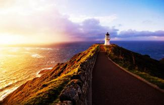 Sunset at Cape Reinga