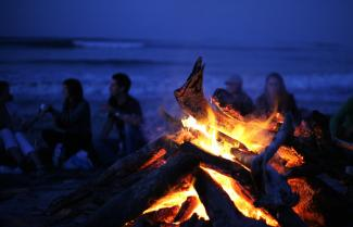 Bonfire on Beach