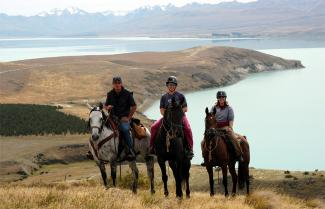 Beautiful views on the Overnight Safari Ride - Horse Trekking New Zealand