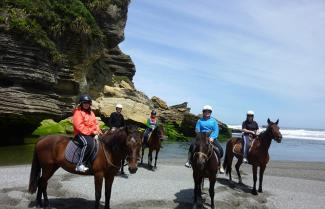 Guided Small Group Horse Trekking Tour, Punakaiki, New Zealand