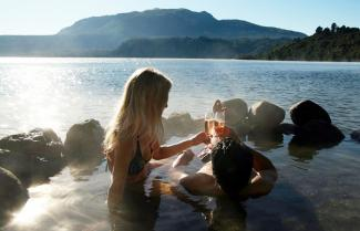 Natural Hot-pools Lake Tarawera.