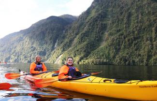 Kayaking in Milford Sound