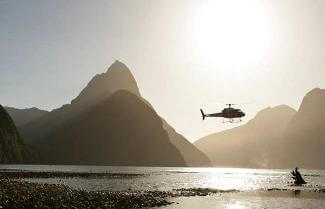 Luxury Helicopter Tour on a New Zealand self drive tour.