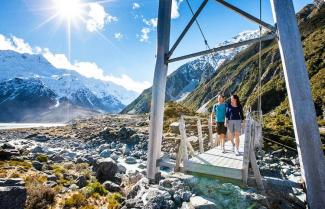 Hiking Hooker Valley Mt Cook