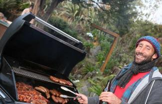 BBQ Dinner on a New Zealand Ski Tour