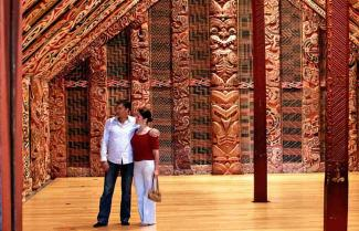 Experiencing a Maori Marae on a New Zealand self-drive cultural tour.