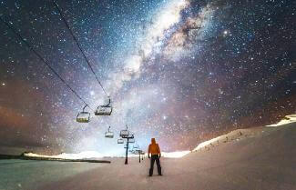 the night sky as seen from Queenstown New Zealand