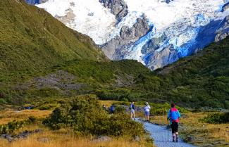 Walking Mt Cook National Park