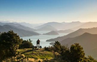 Looking over the Marlborough Sounds.