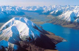 Southern Alps seen on a New Zealand tour