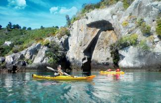 Kayak to the Carvings in Taupo