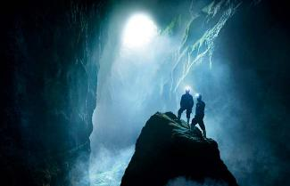 Caving in the Lost World in Waitomo.