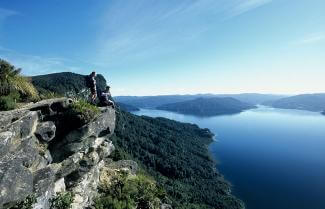 Magnificent view over Lake Waikaremoana