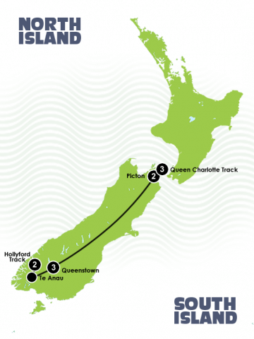 11 Day South Island Contrasts Itinerary