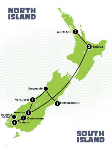12 Days Christchurch to Auckland Itinerary