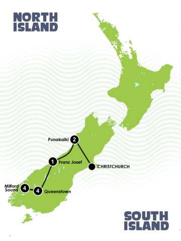 12 Day Milford Track and West Coast Itinerary
