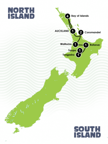 12 Day North Island Adventurer Itinerary
