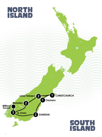 12 Day Relaxed Luxury South Island Itinerary