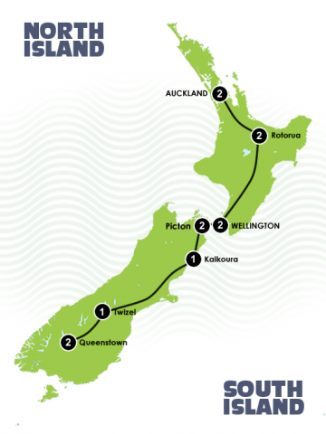 13 Day Great Sights New Zealand itinerary